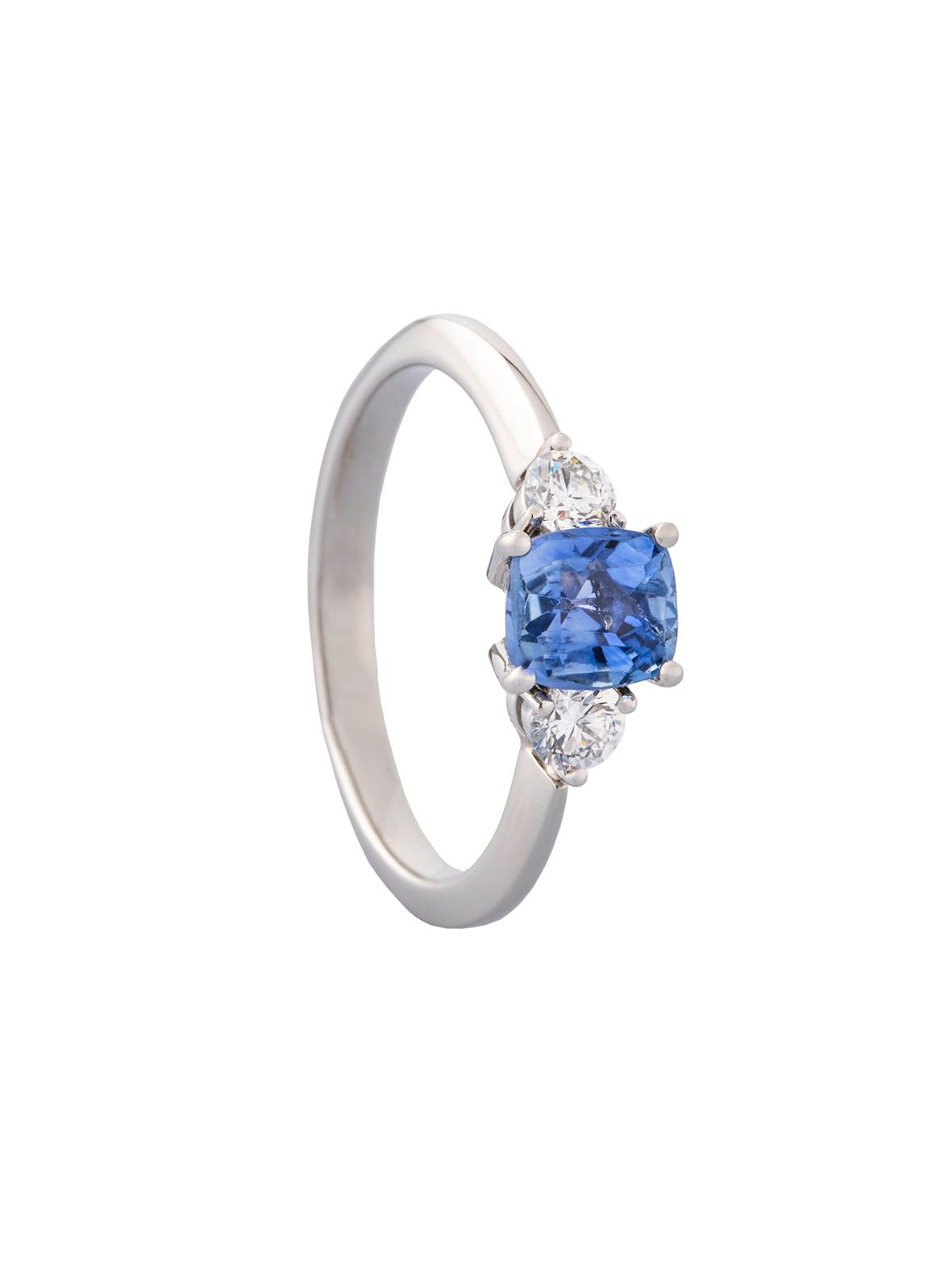Platin Safir-Ring