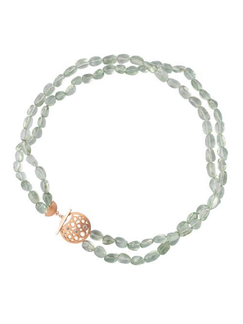 Prasiolith-Halskette